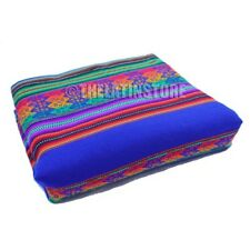 Throw-Peruvian Aguayo ( Manta) Ethnic colorful-Electric Blue