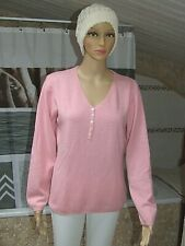 Pull rose neuf taille L marque Crossways avec cachemire