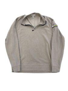 Peter Millar 1/4 Zip Large Blaster Tan Sweater Pull Over Jacket Mens Golf EUC