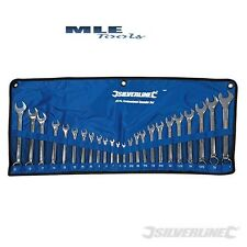 "Silverline Combination spanner 24 Piece 6 - 22mm 1/4 - 1"" Imperial Metric SP56"