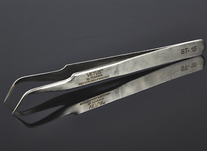 Vetus Stainless Steel Fine Curved Tip ST-15 Tweezers