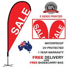 4.5m Red SALE Teardrop Flag Banner Kit Outdoor real estate SALERED