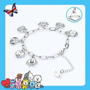 KPOP Bracelets Bangtan Boys Wristband V JIMIN Wrist Chain Fashion Jewelry UK