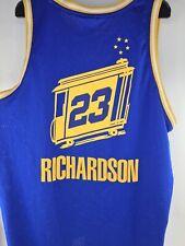Golden State Warriors THE CITY Jersey #23 Jason Richardson Blue Reebok 3XL Blue