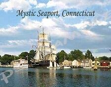 Connecticut - MYSTIC SEAPORT - Travel Souvenir Flexible Fridge Magnet