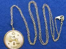 "$28 Nordstrom LIBRA Horoscope Sign Zodiac Pendant Necklace Goldtone 36"" Long"