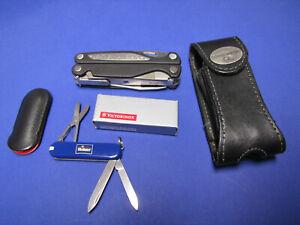 Leatherman Charge mit  Holster Victorinox mini Taschenmesser NEU