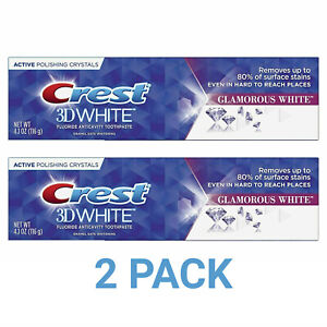 2 PACK Crest 3D White Luxe Glamorous White Toothpaste 4.1 Ounce