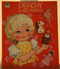 Vintage Peachy & Her Puppets Paper Doll Book Whitman Books Excellent Uncut