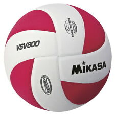 Mikasa Squish Volleyball, Soft Cover White/Red