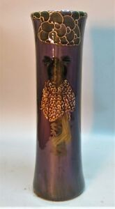 "Fine FREDERICK RHEAD WELLER Art Pottery Vase  ""Birdimal Geisha"" c. 1903 antique"