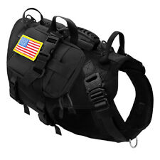 Tactical Military Dog Harness K9 POLICE MOLLE Training Vest With Pouches PITBULL