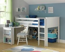Argos Home Brooklyn White Mid Sleeper Bed Frame with Desk