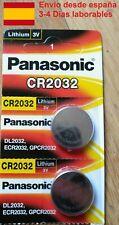 2 x PILAS PANASONIC LITIO CR2032 3V nuevas (Mandos, Relojes, Placas Base)