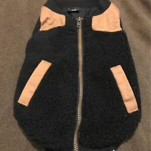 Dog Jacket Size Small Black and Brown