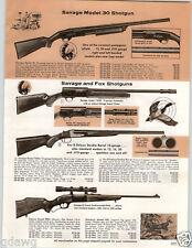 1964 PAPER AD 3 PG Savage Hi Powered Rifle Model 30 Fox 110MC 110E 99DL