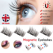 UK Magnetic EyeLashes False Magnet Eye Lashes Natural Extensions Reusable FAST