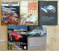 Monterey Historics original vintage race program set 1985-89, 1991-93, 1995-2000