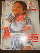 Phildar Mailles Layette N°91 1982 Tricot Bébé Trousseau Modèles Couture Laine