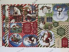 4 x A4 Debbi Moore Father Christmas Die Cut Sentiments Card Toppers AM867