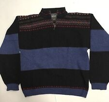 Vintage Woolrich Quarter zip Sweater hand framed native american pattern
