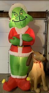 Gemmy 2004 Airblown Inflatable 8' Grinch w/ Max