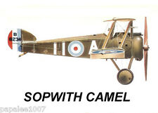"""Model Airplane Plans (FF): SOPWITH CAMEL 1/8 scale 42""""ws for 1 to1.5cc engine"""