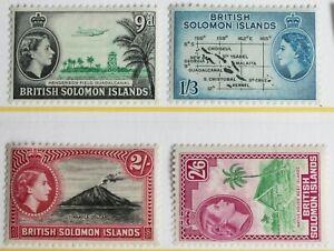 Solomon Islands – 1956 Set - Key Values – Mint  - Cat £30 (R7-E)