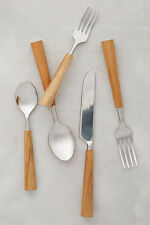 Anthropologie Color-Capped Flatware - Sky Five-piece setting