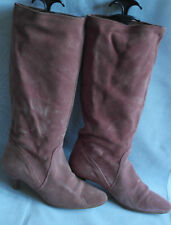 DUNE WOMENS PINK  PULL ON SUEDE UPPER CALF BOOTS SIZE:4/37(WB1440)