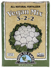 Down to Earth Vegan Mix 6 lbs All Natural Dry Fertilizer OMRI Listed 3-2-2