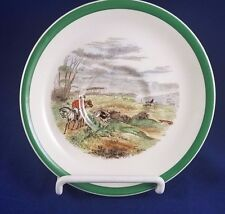 Spode Herring Hunt The Hunt (Green Scalloped) Saucer, The Find