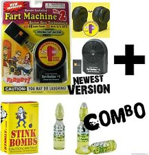 1 FART MACHINE #2 with remote + 1 Box of 3 Stink Bombs ~ COMBO Prank Joke Gag