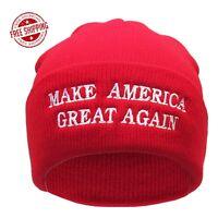 84f64eb9a61 MAGA MAKE AMERICA GREAT AGAIN WINTER BEANIE HAT riding skull cap ...