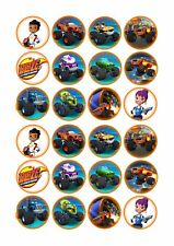24 x Blaze & The Monster Machines Cup Cake Toppers ICING