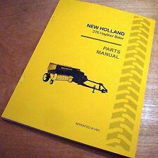 New Holland 276 Hay Baler Hayliner Parts Catalog Book List Manual NH