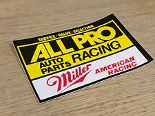 VINTAGE ALL PRO RACING AUTO PARTS STICKER S047-49 150x100 DRAG RACE NASCAR NHRA