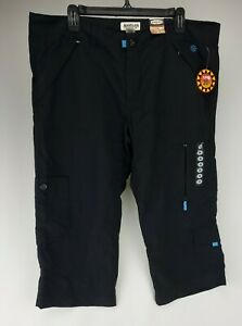 Magellan outdoor Gear CAPRI Pants Sz 16 UPF 20 Black Pockets Moisture wicking