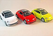 VOLKSWAGEN THE BEETLE *3 CAR SET,WHITE/RED/YELLOW WELLY 1/38 DIECAST MODELS,NEW