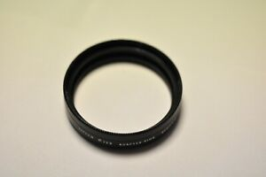 Tiffen 723 adapter. 49mm to accept Series VII drop in filter. With retainer