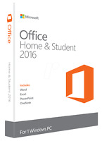 Microsoft® Office 2016 Home & Student Vollversion Original Produktkey