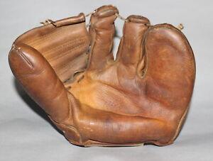 Antique Vintage 1950's Nokona 3F7 Forrest Spook Jacobs 3 finger baseball glove