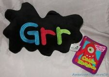 """NEW 2014 Plush SUGAR LOAF CUDDLE MONSTERS 10"""" Black EMBROIDERED GRR Mini Pillow"""