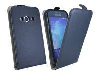 Schutzschale Tasche Case Etui Flip für Samsung Galaxy Xcover 3 G388F in Schwarz