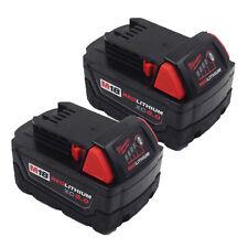 2x 5000mAh 18V Li-ion Battery for Milwaukee M18 XC 48-11-1815 M18B2 M18B4 M18BX