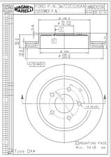 Disc Brake Rotor Rear Magneti Marelli 1AMVR20159