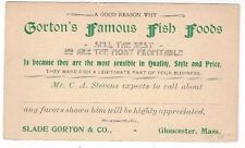 UX14 Postal Card Advertising Gorton's Famous Fish Foods, Gloucester MA