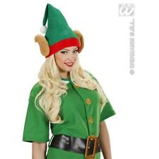 Green Elf Hat With Ears Santas Little Helper Christmas Fancy Dress Accessory