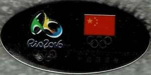 2016 Rio Silver Oval Chinese Olympic Team NOC Pin