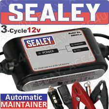 Sealey SMC01 12v Car Bike 3 Cycle 4 Step Automatic Battery Charger Maintainer